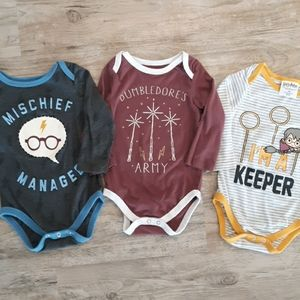 Set of 12 Month Harry Potter Onsies